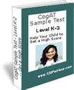 CogAt test examples-levels K-2