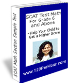 SCAT Test Examples – Math Section